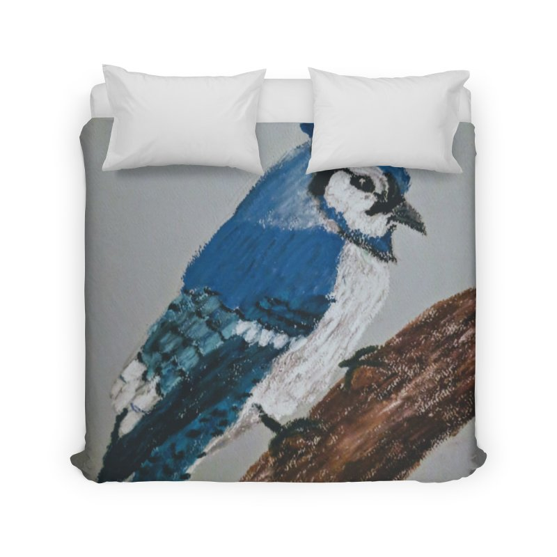 Blue Jay Home Duvet by Whimsical Wildlife Wares