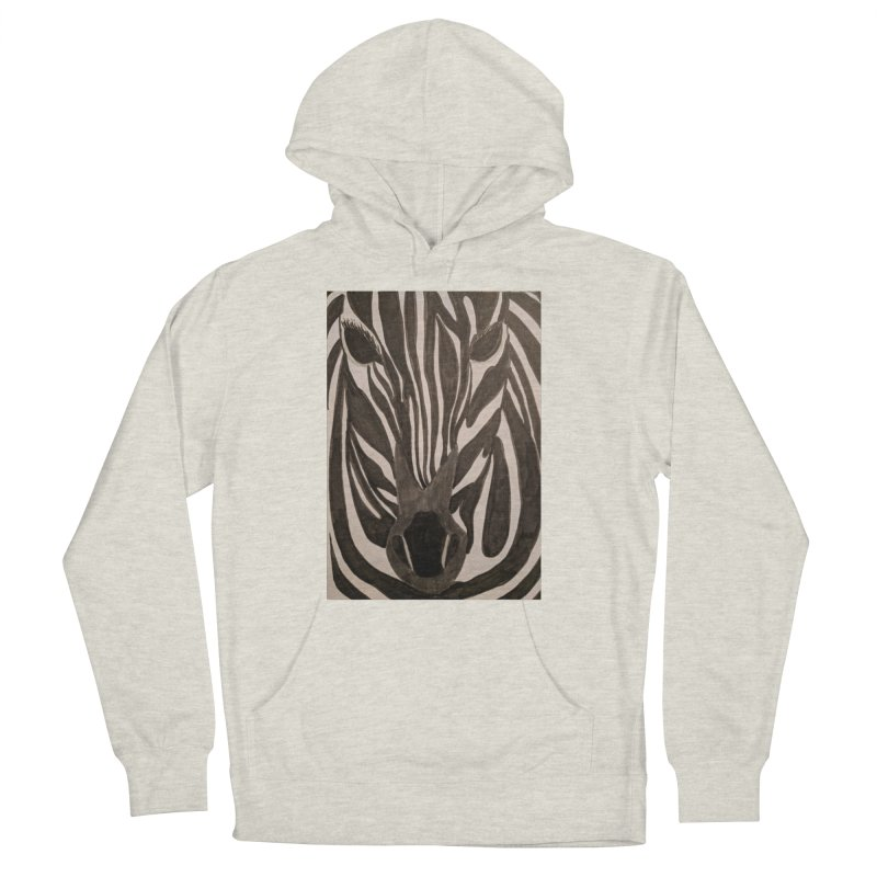 Zebra Men's Pullover Hoody by Whimsical Wildlife Wares