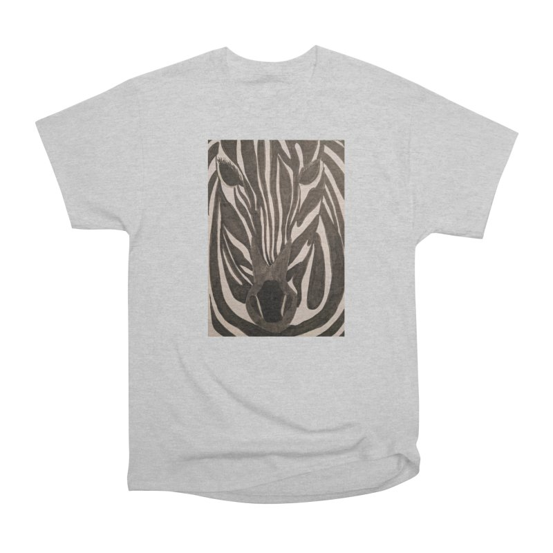 Zebra Women's Classic Unisex T-Shirt by Whimsical Wildlife Wares