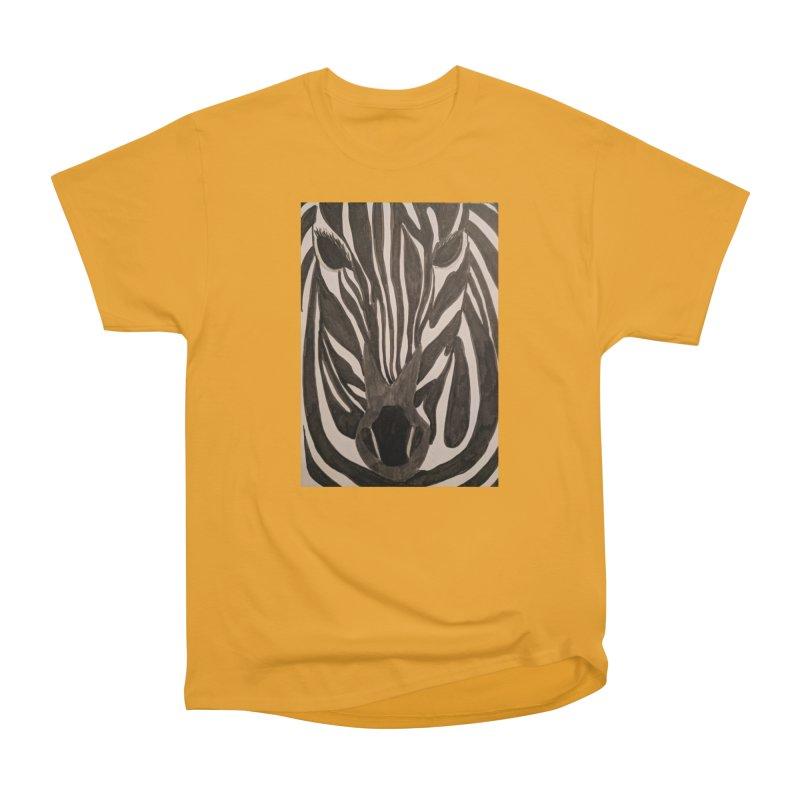 Zebra Women's Heavyweight Unisex T-Shirt by Whimsical Wildlife Wares