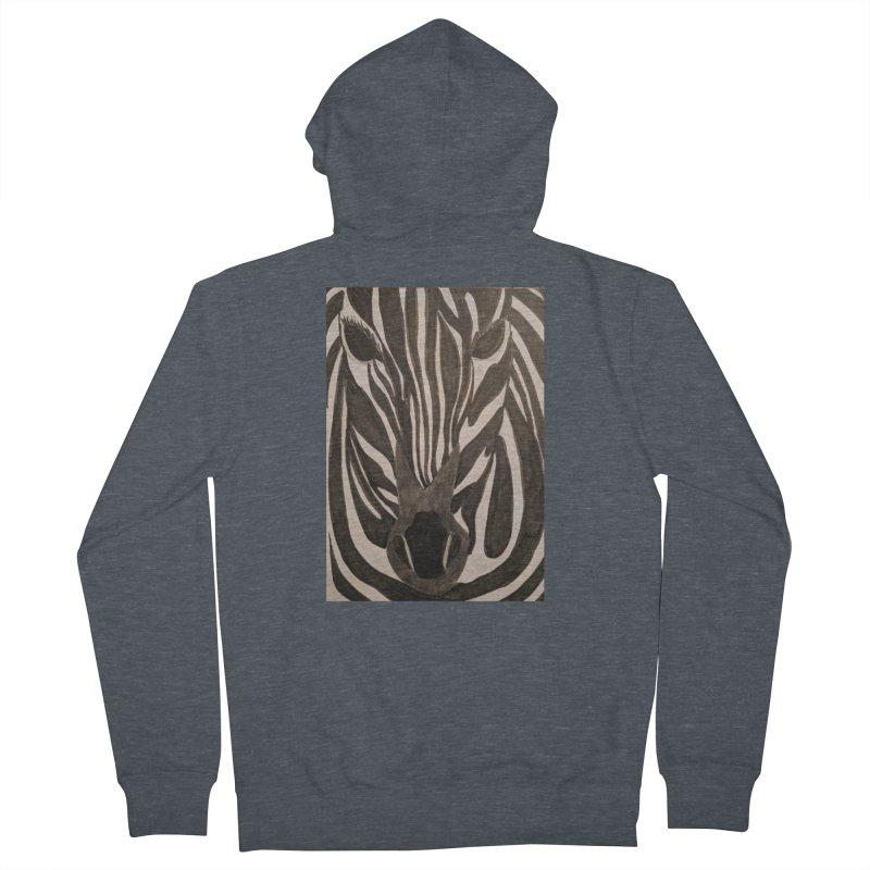 Zebra Women's Zip-Up Hoody by Whimsical Wildlife Wares