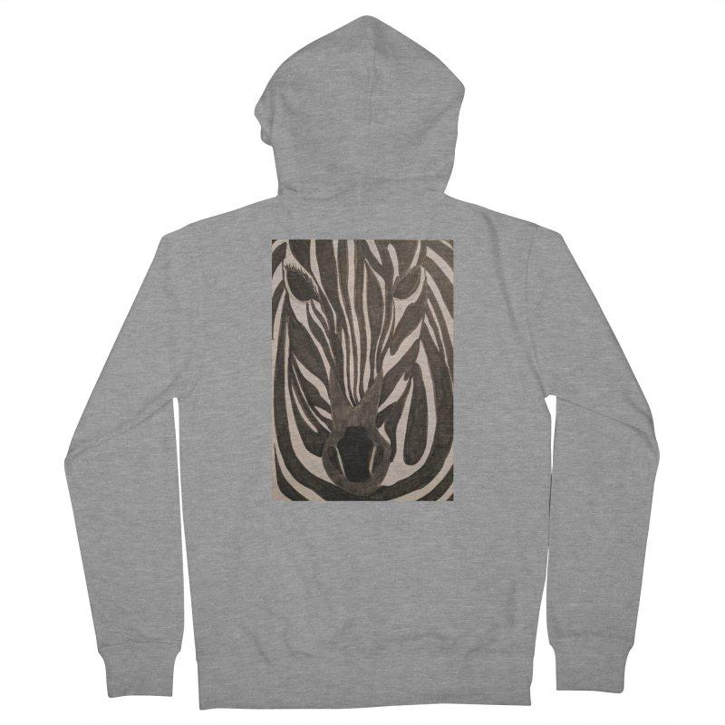 Zebra Men's Zip-Up Hoody by Whimsical Wildlife Wares