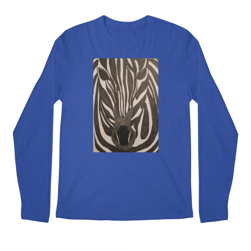 Zebra Men's Longsleeve T-Shirt by Whimsical Wildlife Wares
