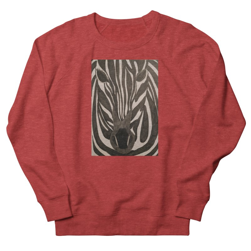 Zebra Women's Sweatshirt by Whimsical Wildlife Wares