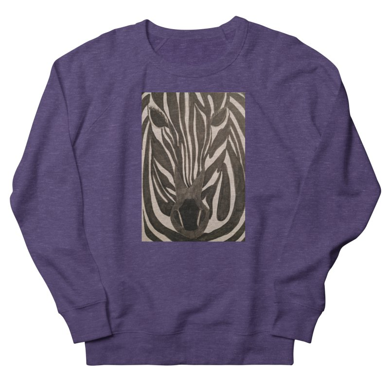 Zebra Men's Sweatshirt by Whimsical Wildlife Wares