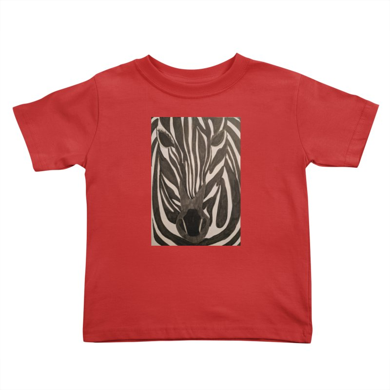 Zebra Kids Toddler T-Shirt by Whimsical Wildlife Wares