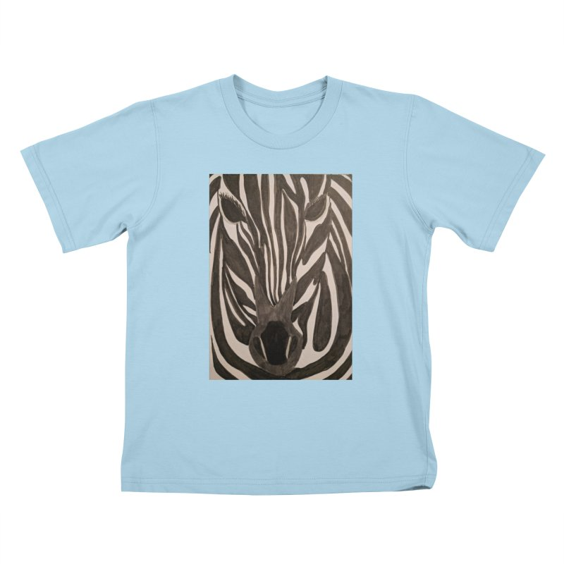 Zebra Kids T-Shirt by Whimsical Wildlife Wares
