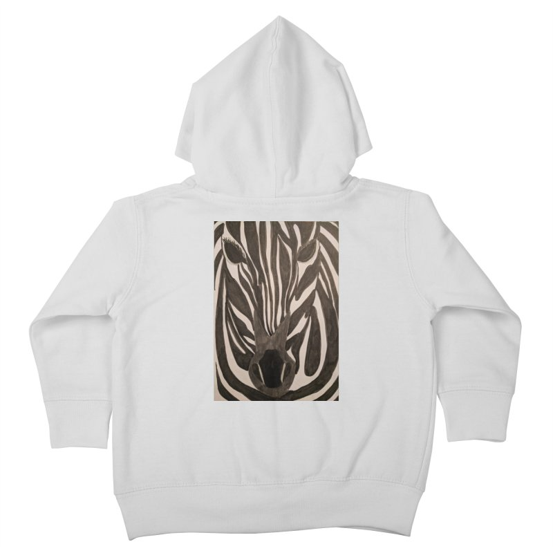 Zebra Kids Toddler Zip-Up Hoody by Whimsical Wildlife Wares
