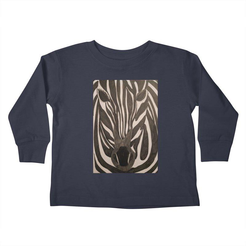 Zebra Kids Toddler Longsleeve T-Shirt by Whimsical Wildlife Wares