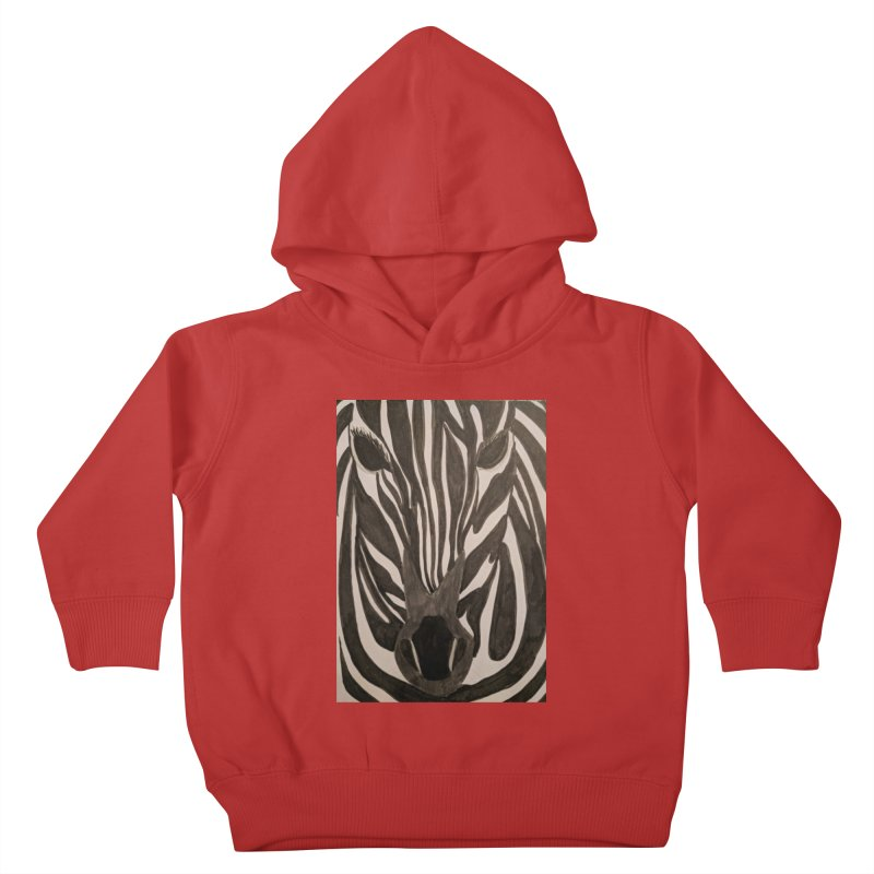 Zebra Kids Toddler Pullover Hoody by Whimsical Wildlife Wares