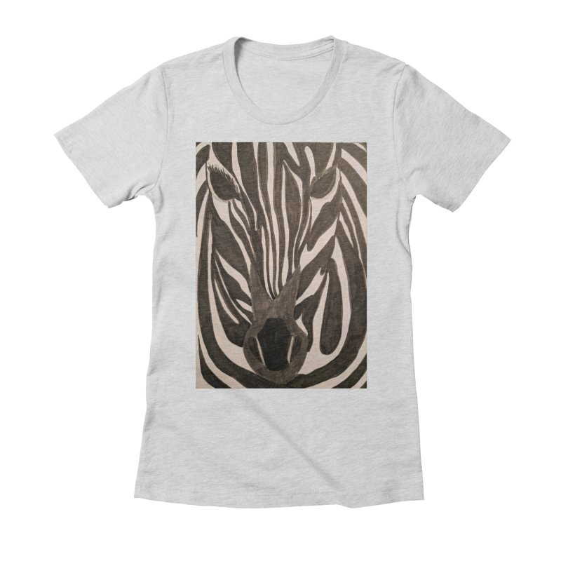 Zebra Women's Fitted T-Shirt by Whimsical Wildlife Wares