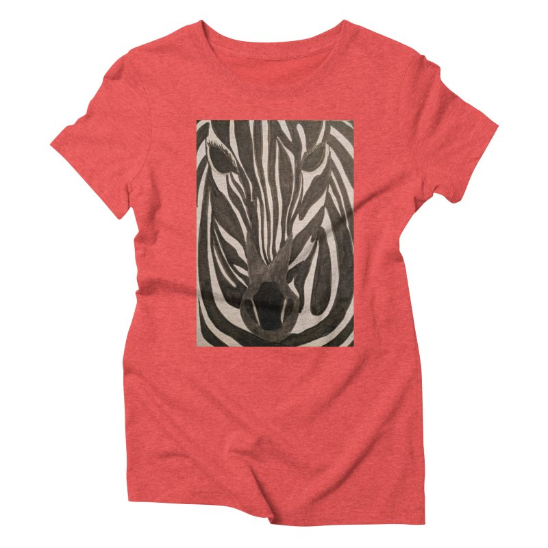 Zebra Women's Triblend T-Shirt by Whimsical Wildlife Wares