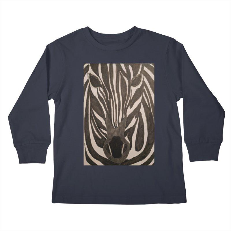 Zebra Kids Longsleeve T-Shirt by Whimsical Wildlife Wares