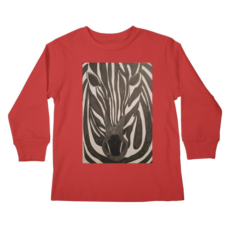 Zebra Kids Longsleeve T-Shirt by Whimsical Wildlife Wares