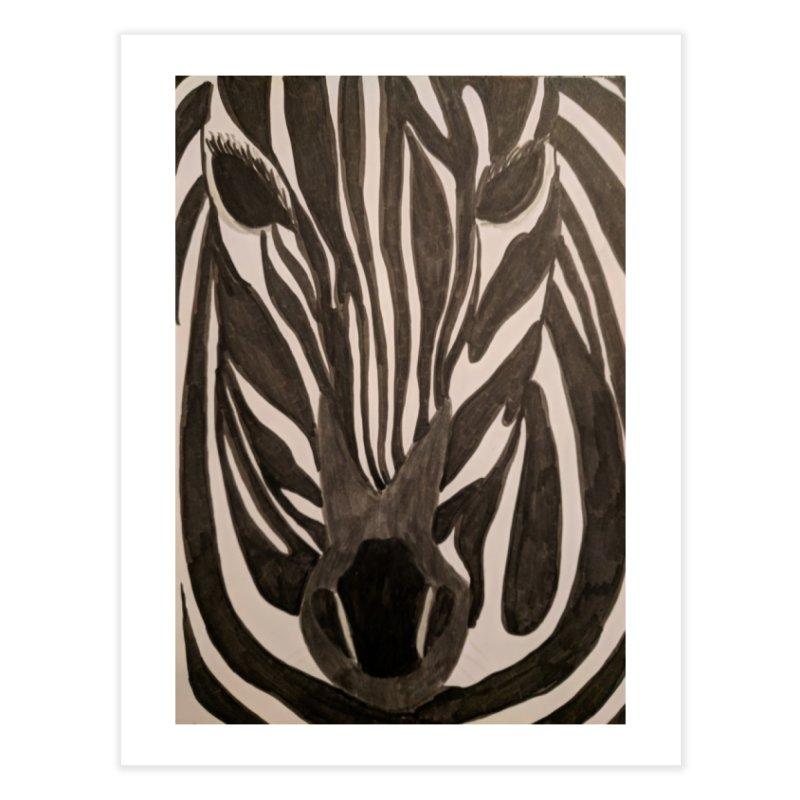 Zebra Home Fine Art Print by Whimsical Wildlife Wares