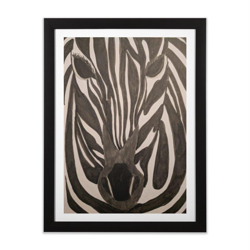 Zebra Home Framed Fine Art Print by Whimsical Wildlife Wares