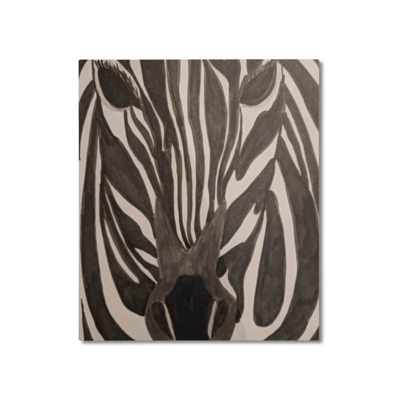 Zebra Home Mounted Aluminum Print by Whimsical Wildlife Wares