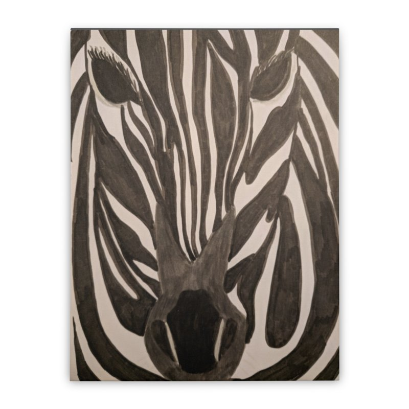 Zebra Home Stretched Canvas by Whimsical Wildlife Wares