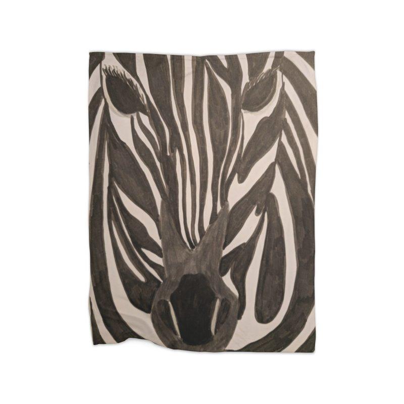 Zebra Home Blanket by Whimsical Wildlife Wares