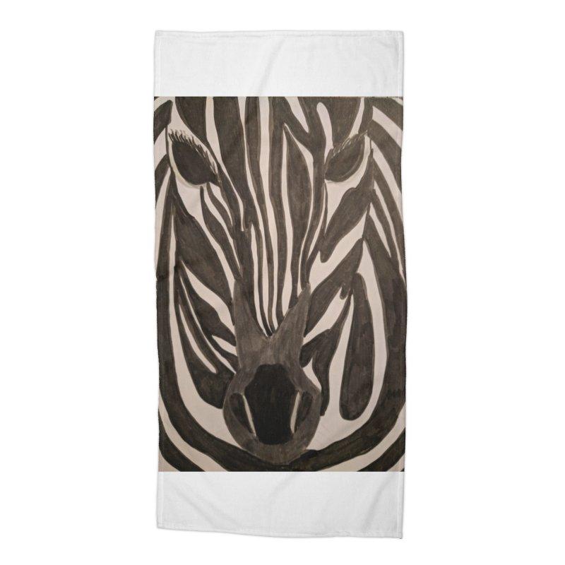 Zebra Accessories Beach Towel by Whimsical Wildlife Wares