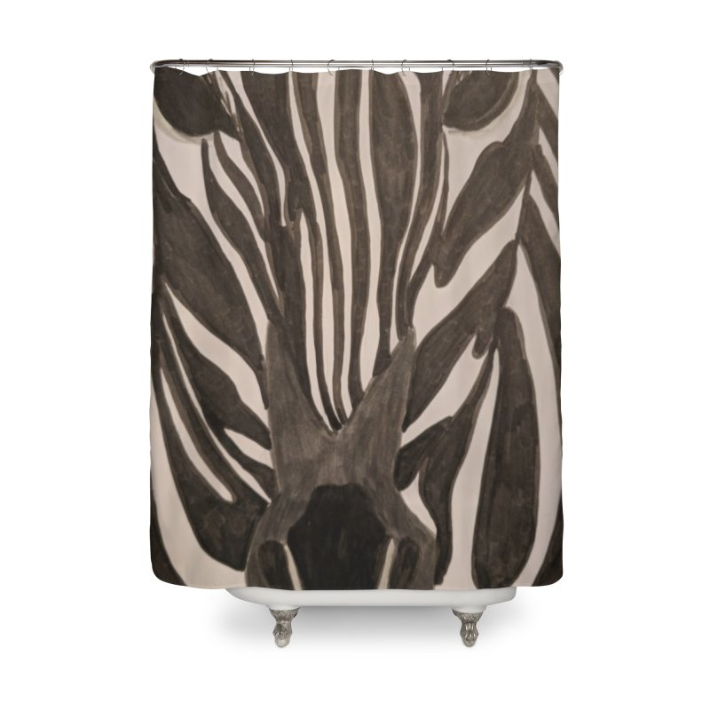 Zebra Home Shower Curtain by Whimsical Wildlife Wares