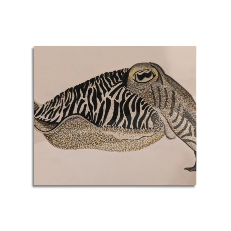 Cuttlefish Home Mounted Aluminum Print by Whimsical Wildlife Wares