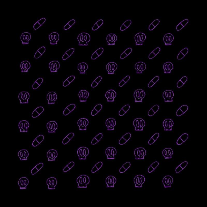 Black + Purple Pills X Skulls SunnyGrrrl Pattern Women's Bottoms by SunnyGrrrl's Merch For Misfits