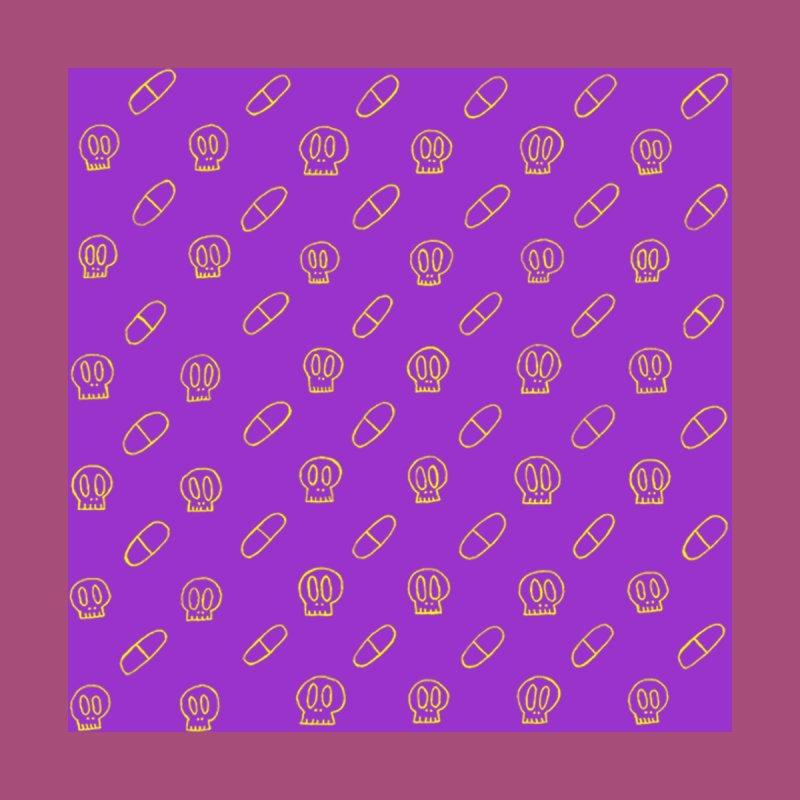 Purple + Yellow Pills X Skulls SunnyGrrrl Pattern Women's Bottoms by SunnyGrrrl's Merch For Misfits