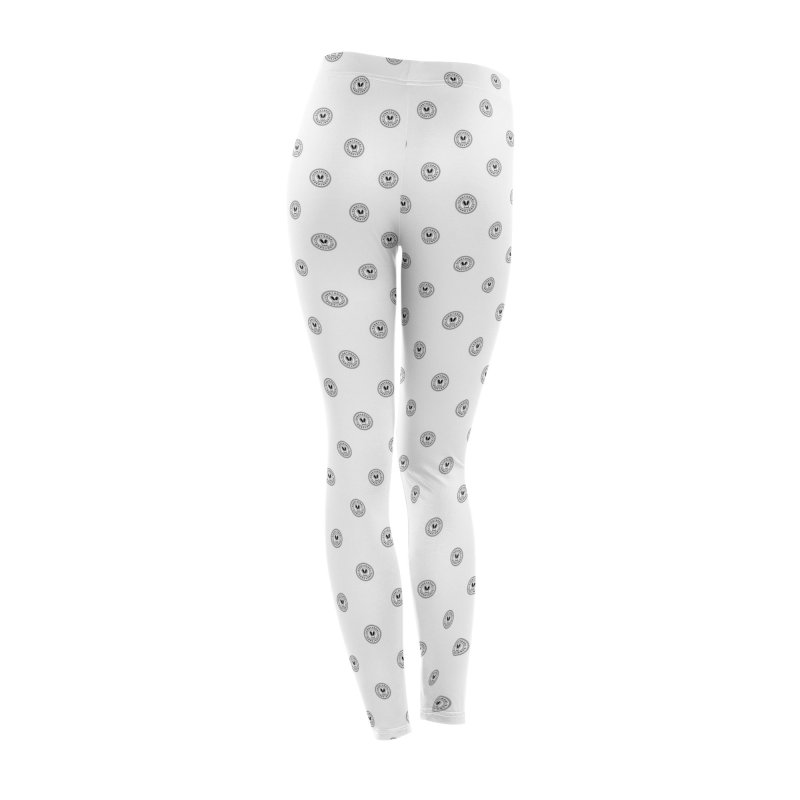 White + Black SunnyGrrrl Logo Pattern Women's Bottoms by SunnyGrrrl's Merch For Misfits