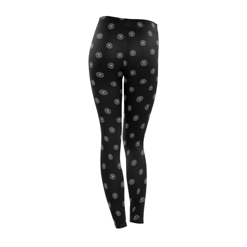 Black + White SunnyGrrrl Logo Pattern Women's Bottoms by SunnyGrrrl's Merch For Misfits