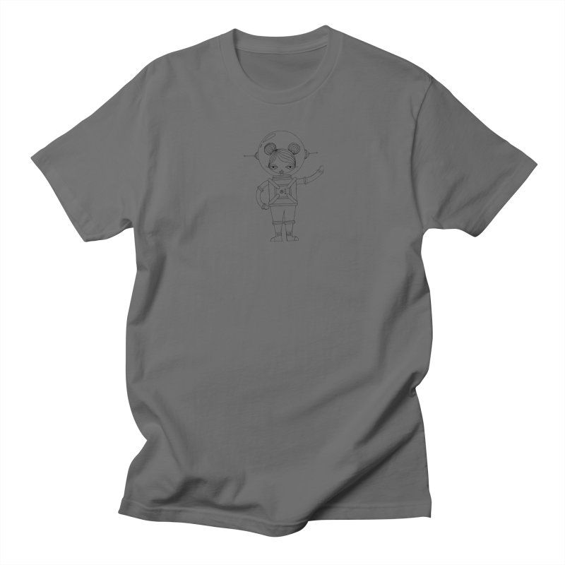 Astronaut Girl (Black) Men's T-Shirt by SunnyGrrrl's Merch For Misfits