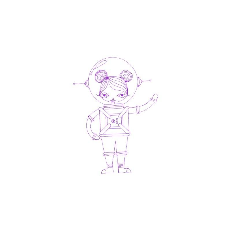 Astronaut Girl (Purple) Kids Baby T-Shirt by SunnyGrrrl's Merch For Misfits