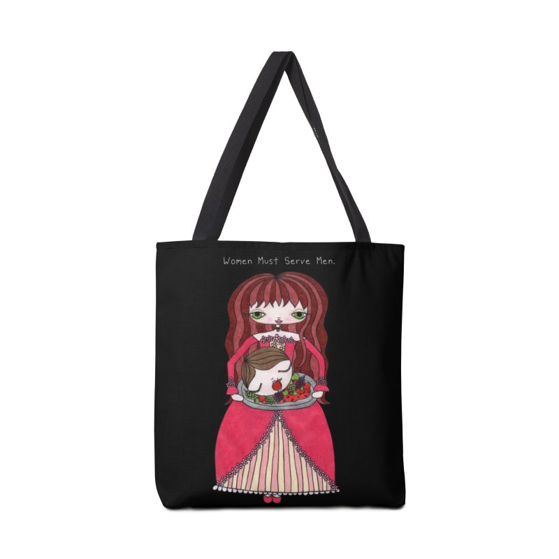Women Must Serve Men (White Text) Accessories Bag by SunnyGrrrl's Merch For Misfits
