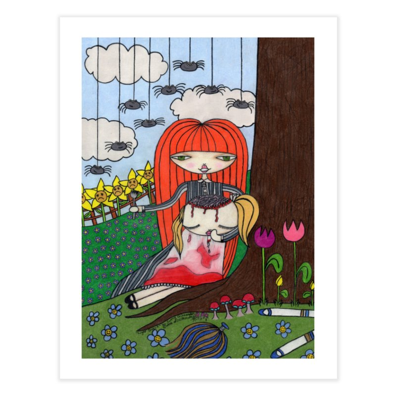 """""""Light Snack"""" by Sunny Crittenden Home Fine Art Print by SunnyGrrrl's Merch For Misfits"""
