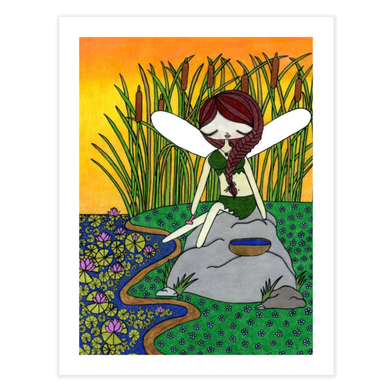 """Shaving Fairy"" by Sunny Crittenden Home Fine Art Print by SunnyGrrrl's Merch For Misfits"