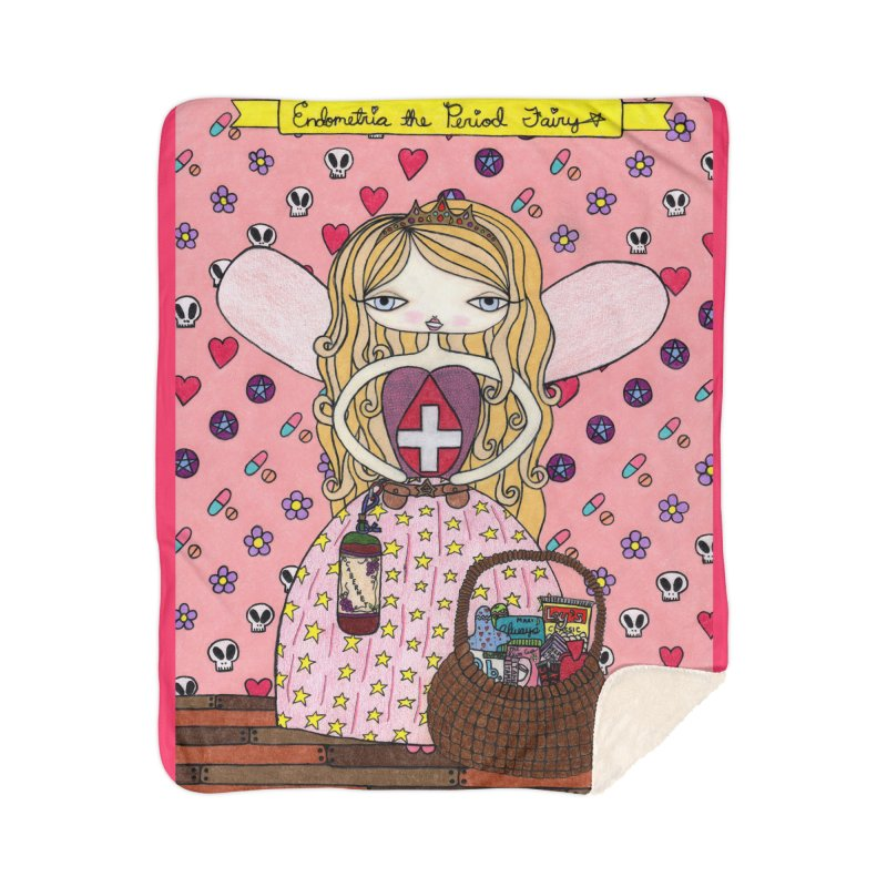 """""""Endometria The Period Fairy"""" by Sunny Crittenden Home Blanket by SunnyGrrrl's Merch For Misfits"""