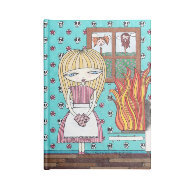 """""""Dinner's Ready"""" by Sunny Crittenden Accessories Notebook by SunnyGrrrl's Merch For Misfits"""