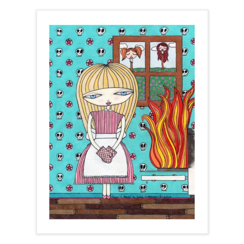 """Dinner's Ready"" by Sunny Crittenden Home Fine Art Print by SunnyGrrrl's Merch For Misfits"