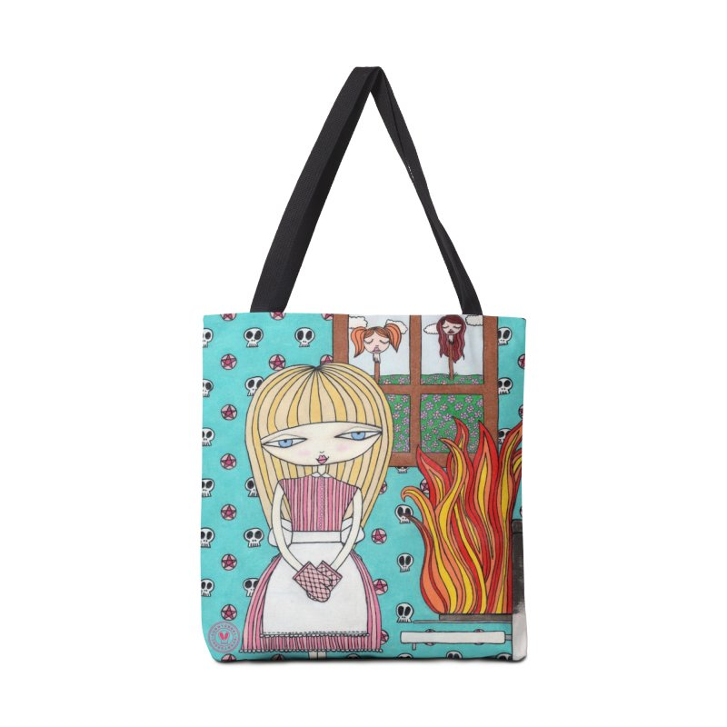 """""""Dinner's Ready"""" by Sunny Crittenden Accessories Bag by SunnyGrrrl's Merch For Misfits"""