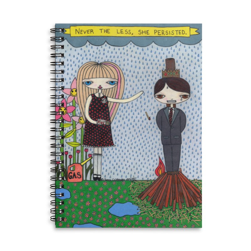 """""""Never The Less, She Persisted"""" by Sunny Crittenden Accessories Notebook by SunnyGrrrl's Merch For Misfits"""