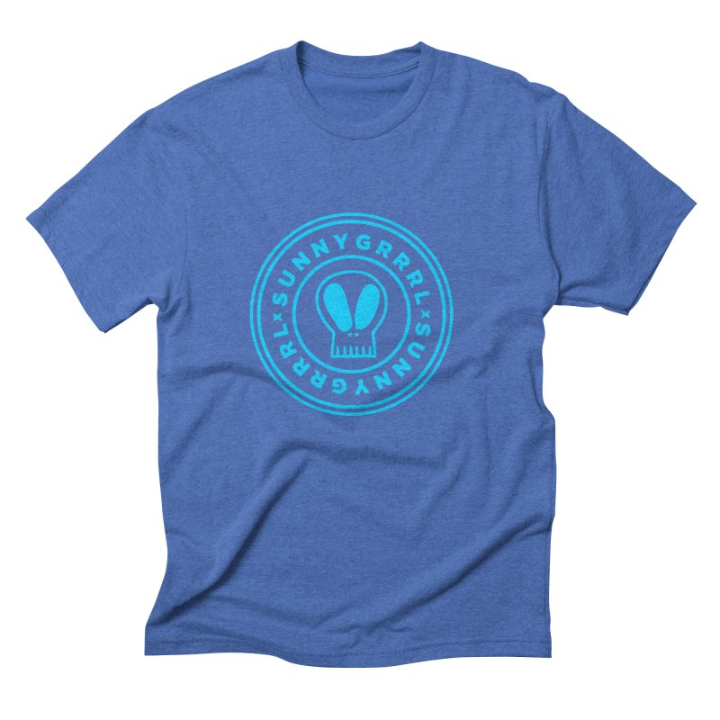 Aqua SunnyGrrrl Logo Men's T-Shirt by SunnyGrrrl's Merch For Misfits