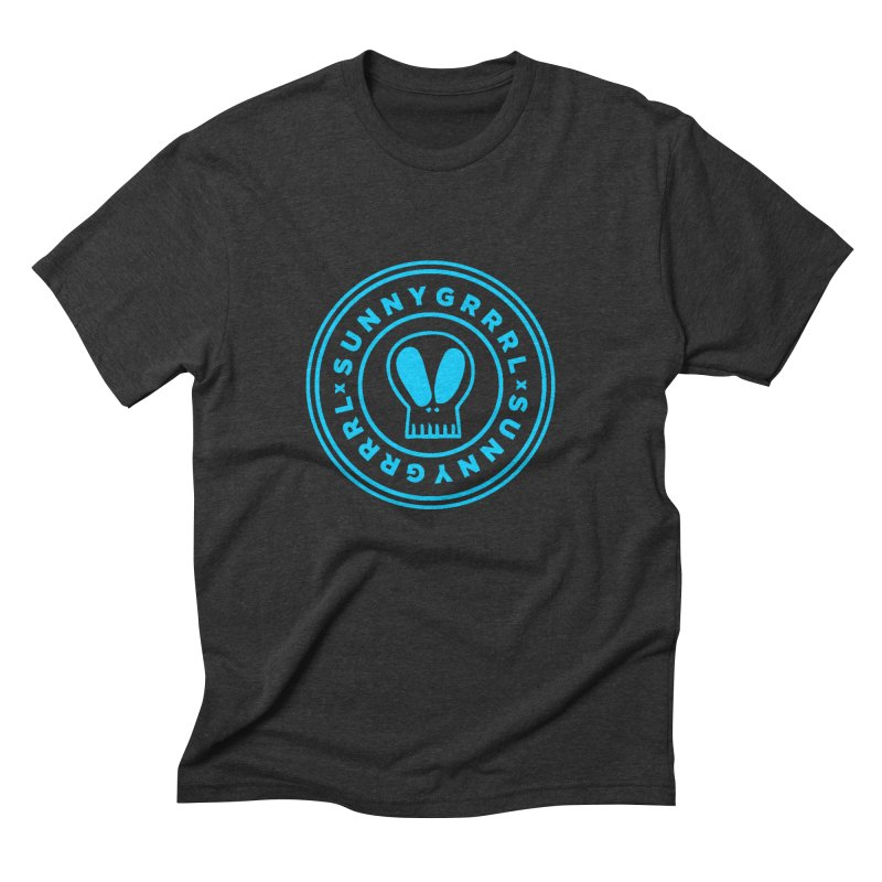Aqua SunnyGrrrl Logo Men's T-Shirt by SunnyGrrrl's Merch For Misfits