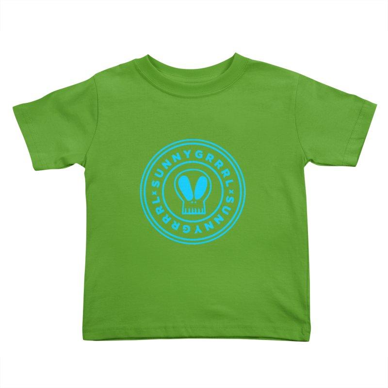 Aqua SunnyGrrrl Logo Kids Toddler T-Shirt by SunnyGrrrl's Merch For Misfits