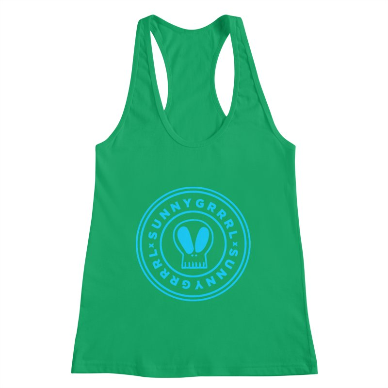 Aqua SunnyGrrrl Logo Women's Tank by SunnyGrrrl's Merch For Misfits