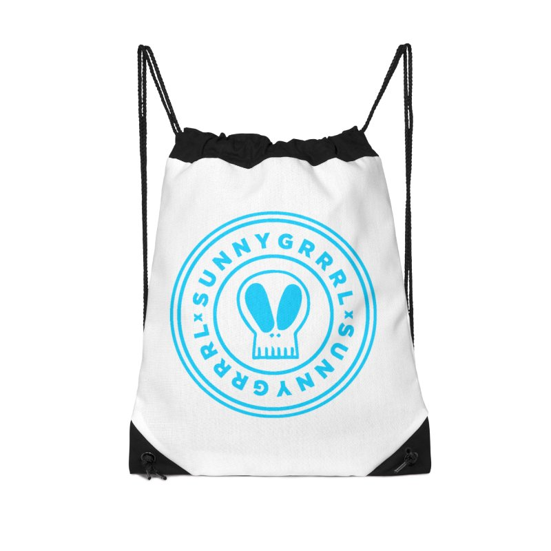 Aqua SunnyGrrrl Logo Accessories Bag by SunnyGrrrl's Merch For Misfits