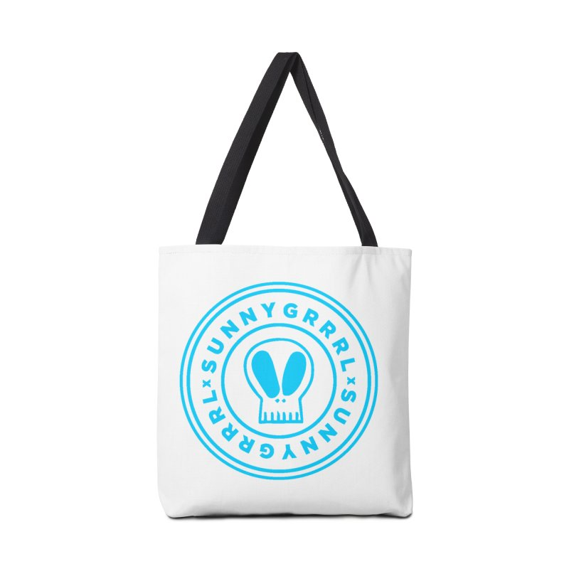 Aqua SunnyGrrrl Logo Accessories Bag by SunnyGrrrl's Merch For Misfits