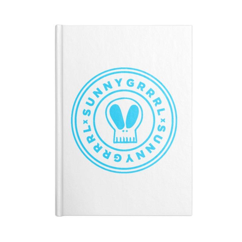 Aqua SunnyGrrrl Logo Accessories Notebook by SunnyGrrrl's Merch For Misfits