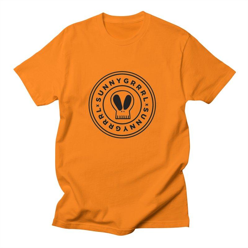 Black SunnyGrrrl Logo Men's T-Shirt by SunnyGrrrl's Merch For Misfits