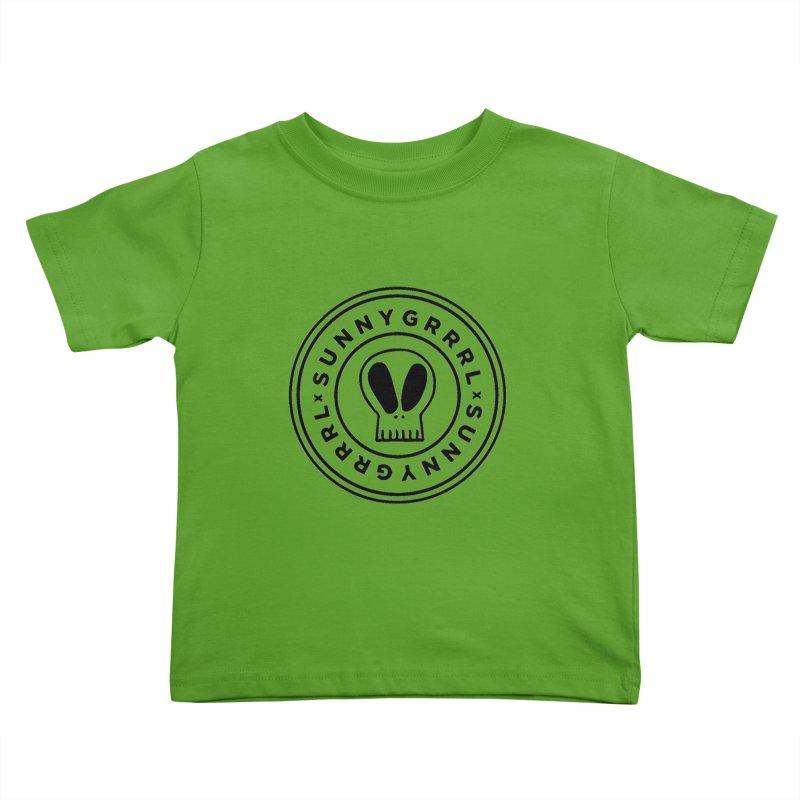 Black SunnyGrrrl Logo Kids Toddler T-Shirt by SunnyGrrrl's Merch For Misfits