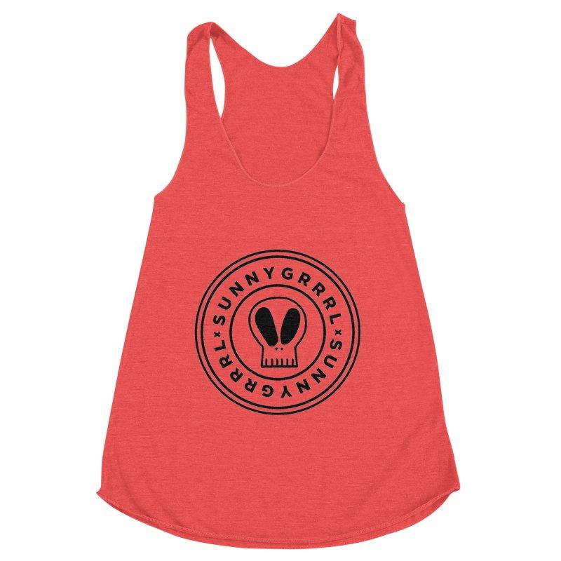 Black SunnyGrrrl Logo Women's Tank by SunnyGrrrl's Merch For Misfits